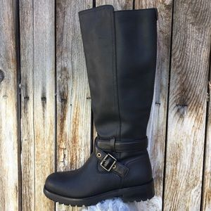 NWT UGG Harington Riding Boot Leather Black 6.5